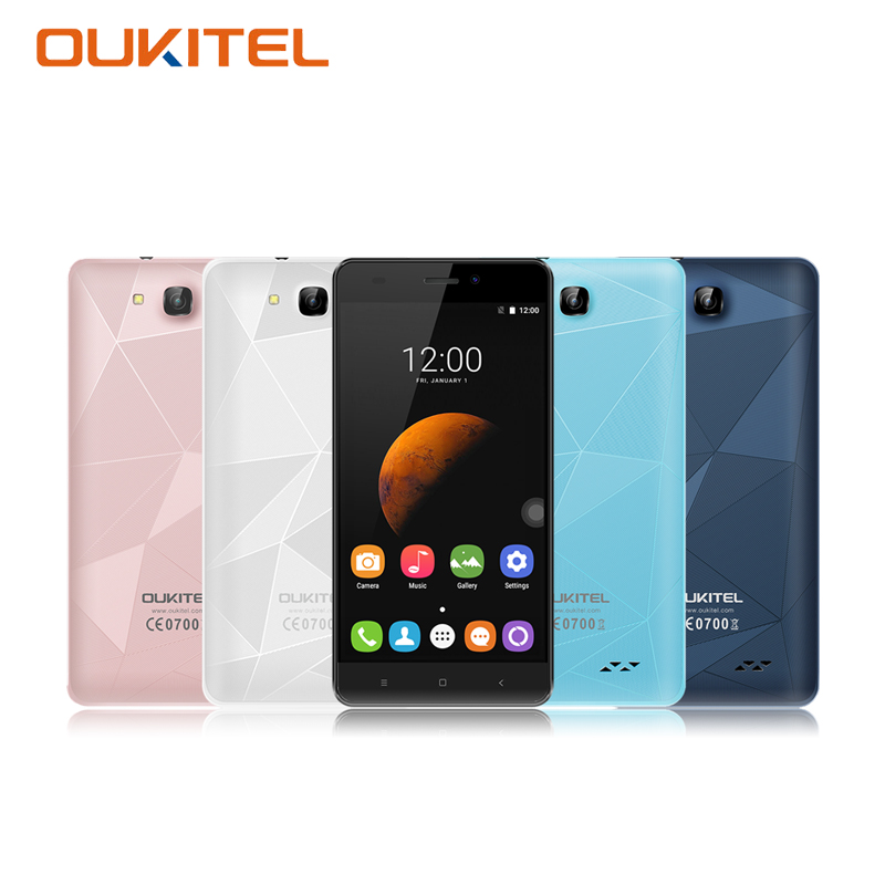 OUKITEL C3 5 Inch 3G Smartphone Android 6 0 Dual Sim Card MTK6580 Quad Core 1GB