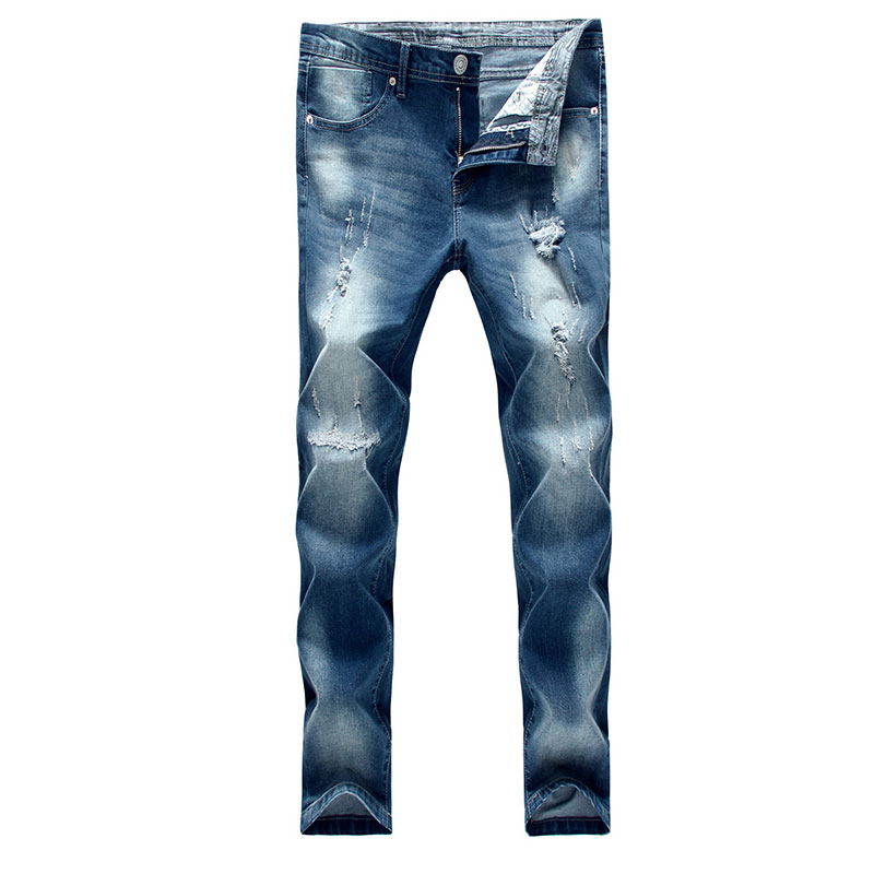 2017 new arrival spring and autumn style men denim jeans high quality fashion slim hold ankle-length pants jeasns size 27-34