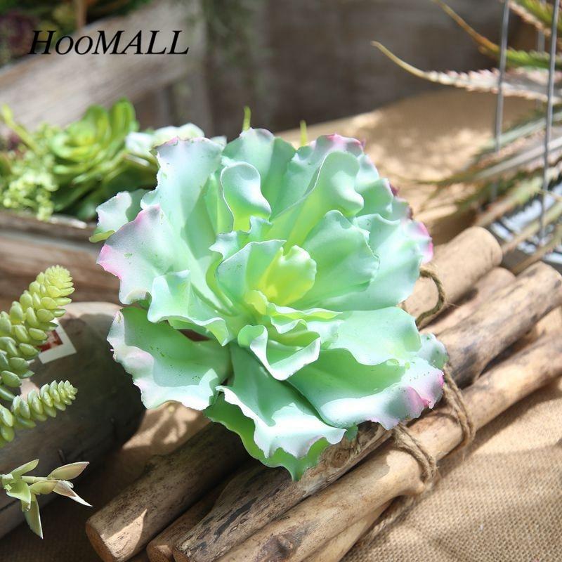 Hoomall Artificial Queen Flower Succulent Landscape Plants Mini Green Fake Succulents Plant Garden Arrangement home Decoration