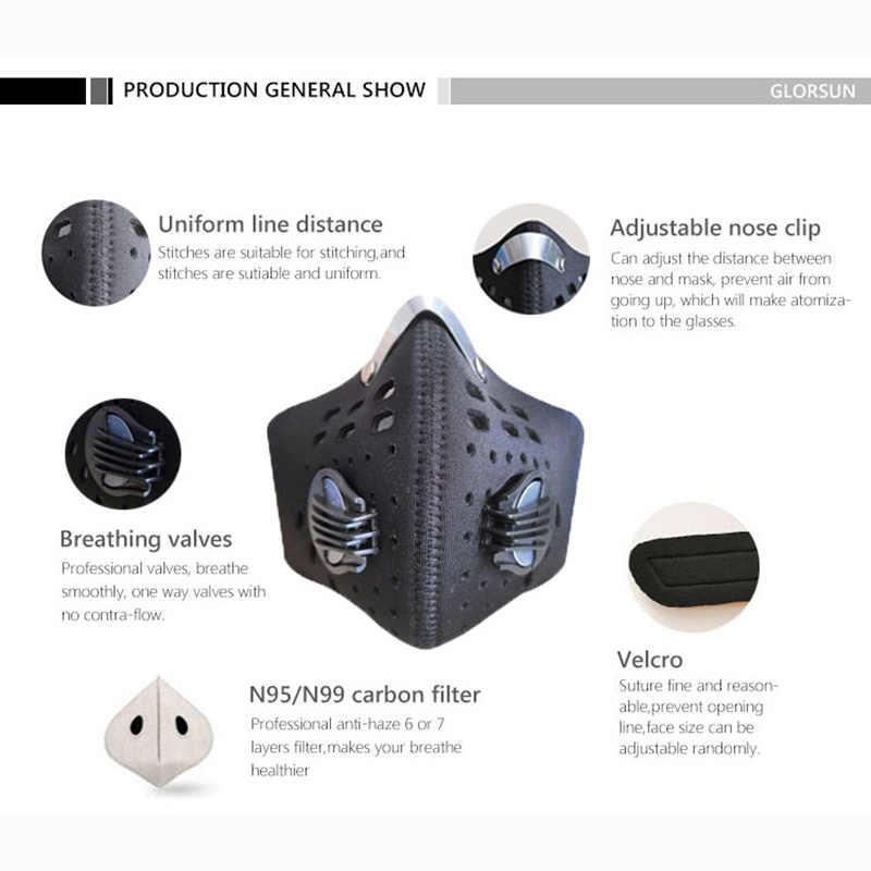 Модная Пылезащитная маска n99 неопрен смог туман мотоцикл езда лицевая маска на заказ спортивный воздушный фильтр оптовая продажа анти запах распиратор от дыма