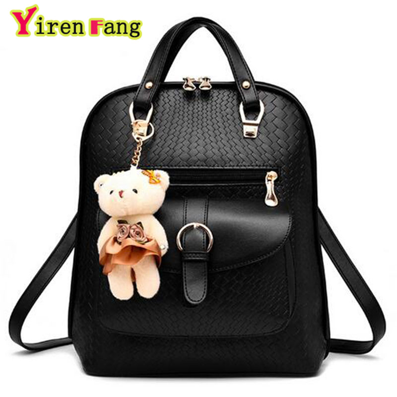 Backpacks  Backpacks: YBYT brand 2016 new leisure diamonds rivet rucksack high quality women shopping package ladies preppy style backpack bear bags