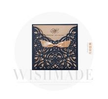 Buy royal blue wedding invitations and get free shipping on wishmade 100pcs royal blue wedding invitation cards filmwisefo