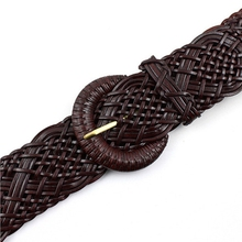 High quality women belt knitted leather belts for women strap female pin buckle free shipping Summer dress