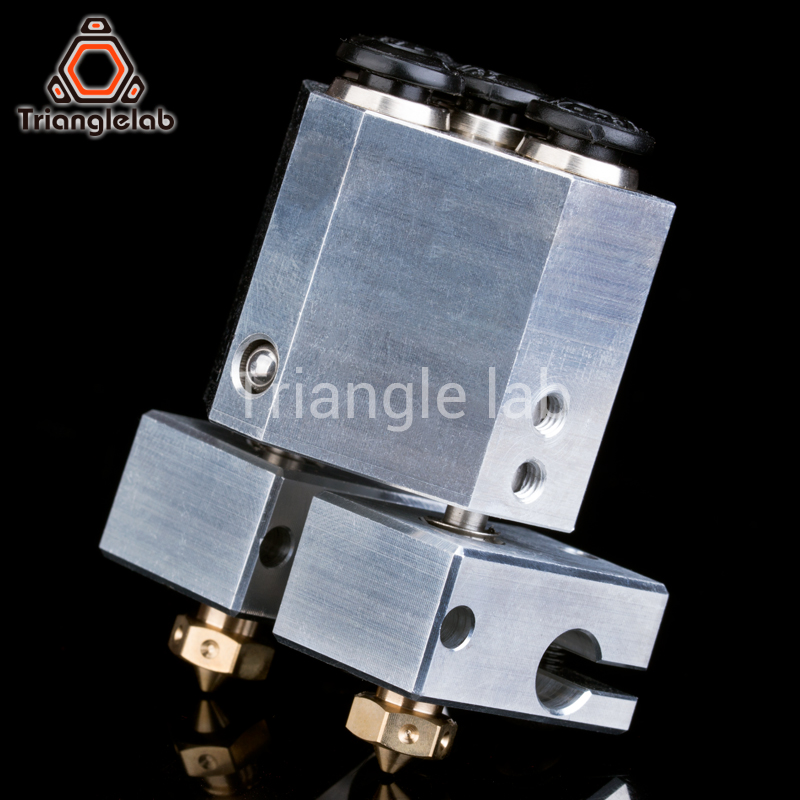 trianglelab customise your dual extrusion chimera water cooled for 3d printer for e3d hotend titan extruder