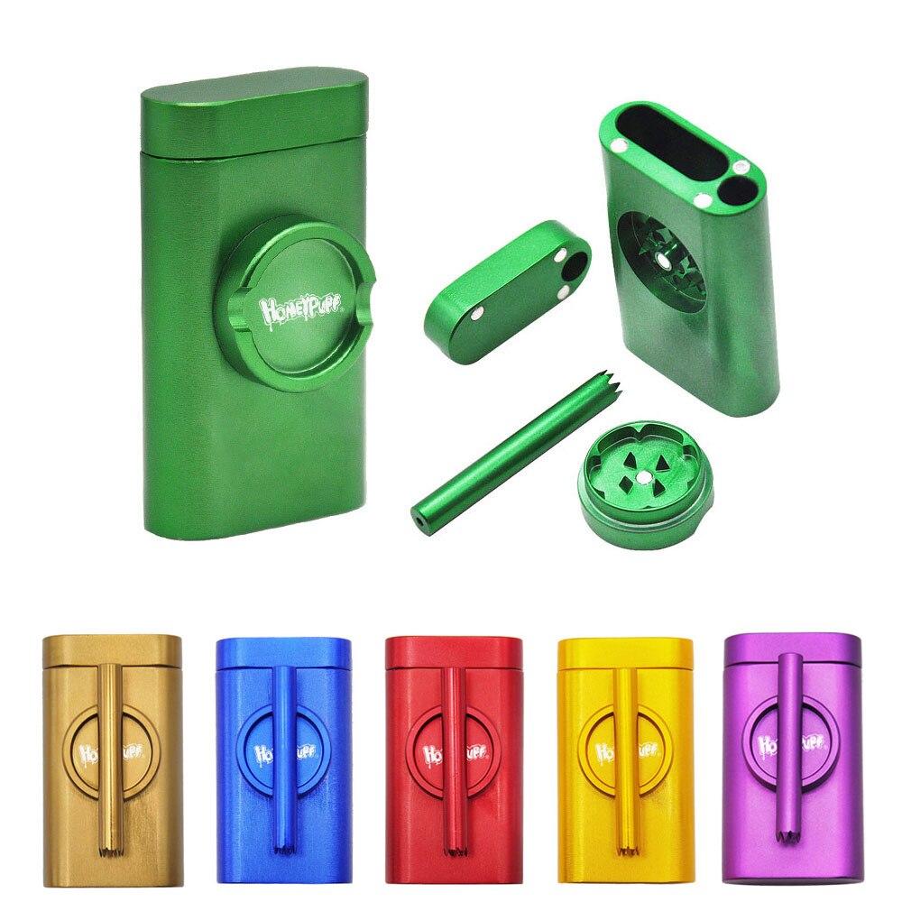 De aluminio de moler caso bateador y de Combo de tabaco de refugio de caso con sala de almacenamiento caso fumar pipa en una