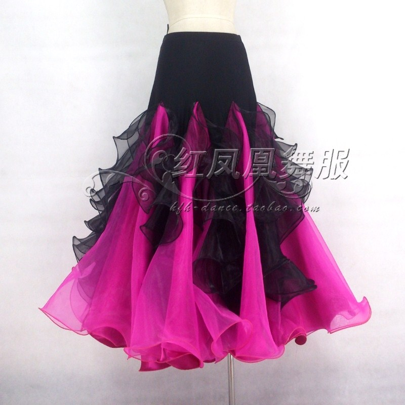 New Style Ballroom Dance Costumes Sexy Spandex Crimping Ballroom Dance Skirt For Women Ballroom Dance Skirts S-4XL LBR-115