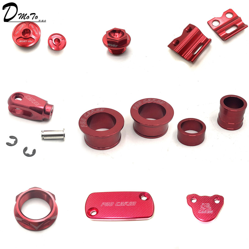 NEUE CNC Bremse set Für CR125 <font><b>250</b></font> <font><b>CRF</b></font> 250R X 450R X 250L M moto kreuz Super moto enduro Dirt bike Off Road image