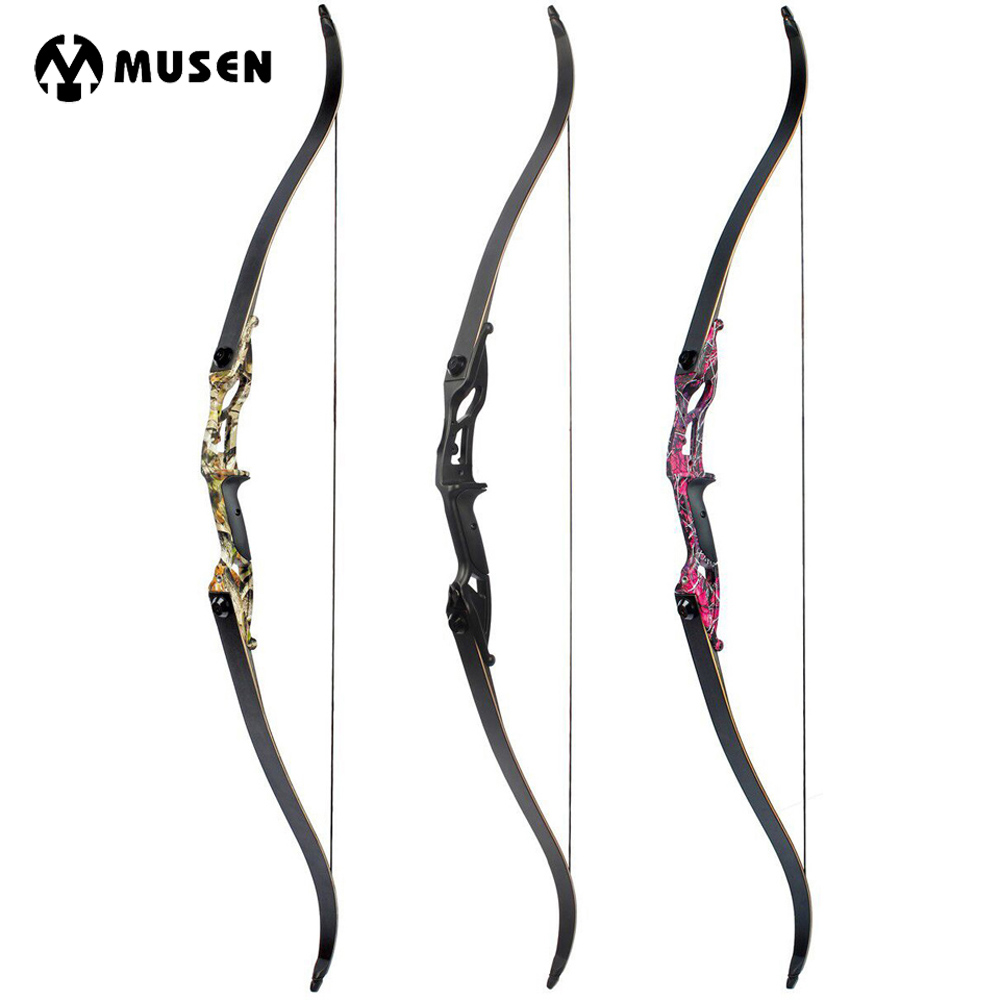 30-50lbs Recurve Bow 56 American Hunting Bow Black/Red Camo/Camo Archery With 17 inches Riser Tranditional Long Bow for Archery луки man kung junior 10 36 recurve bow set red mk rb009