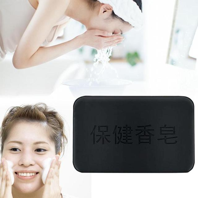 40g Black Bamboo Charcoal Soap Face Body Clear Anti Bacterial Tourmaline Remover Acne Soap Charcoal Savon Propolis Charcoal Soap 4