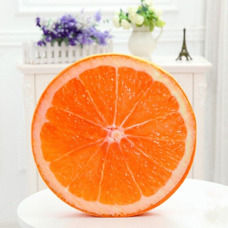 Vyjímatelný a omyvatelný polštářový polštář s plyšovým polštářkem Oranžový sedák pro simulaci melounu