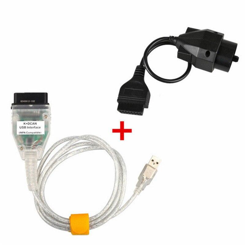 Для BMW INPA K + может K может INPA с FT232RL чип INPA к DCAN USB Интерфейс плюс 20pin к 16pin OBD2 адаптер разъем для BMW