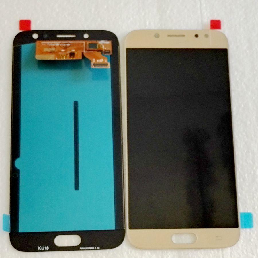 Testé bon Pour Samsung Galaxy J7 2017 J730 j730F/ds J730M J730fm/ds Amoled LCD Avec tactile en verre plein pour réparation de téléphone d'affichage