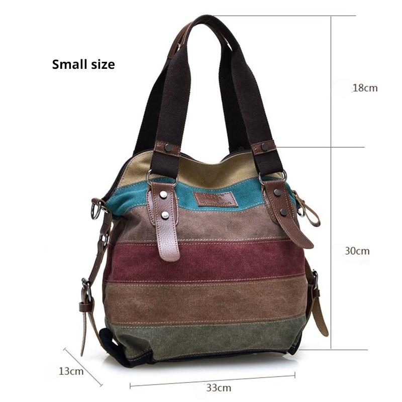 Image 2 - Canvas Bag Fashion Canvas Shoulder Bag Women Handbags Ladies Hand Bags Tote Casual Crossbody Bolsos Mujer Hobos Bolsas Feminina-in Shoulder Bags from Luggage & Bags