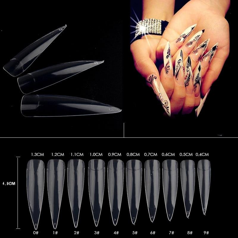 500pcs / pachet Sfaturi false pentru unghii Natural / White / - Manichiură