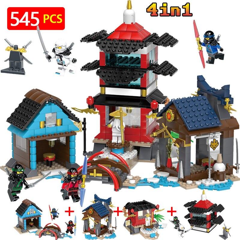 Ninjagoed Movie Temple Scene Action Figures Building Blocks Compatible LegoINGLYs NinjagoINGlys Series Technic Designer Bricks