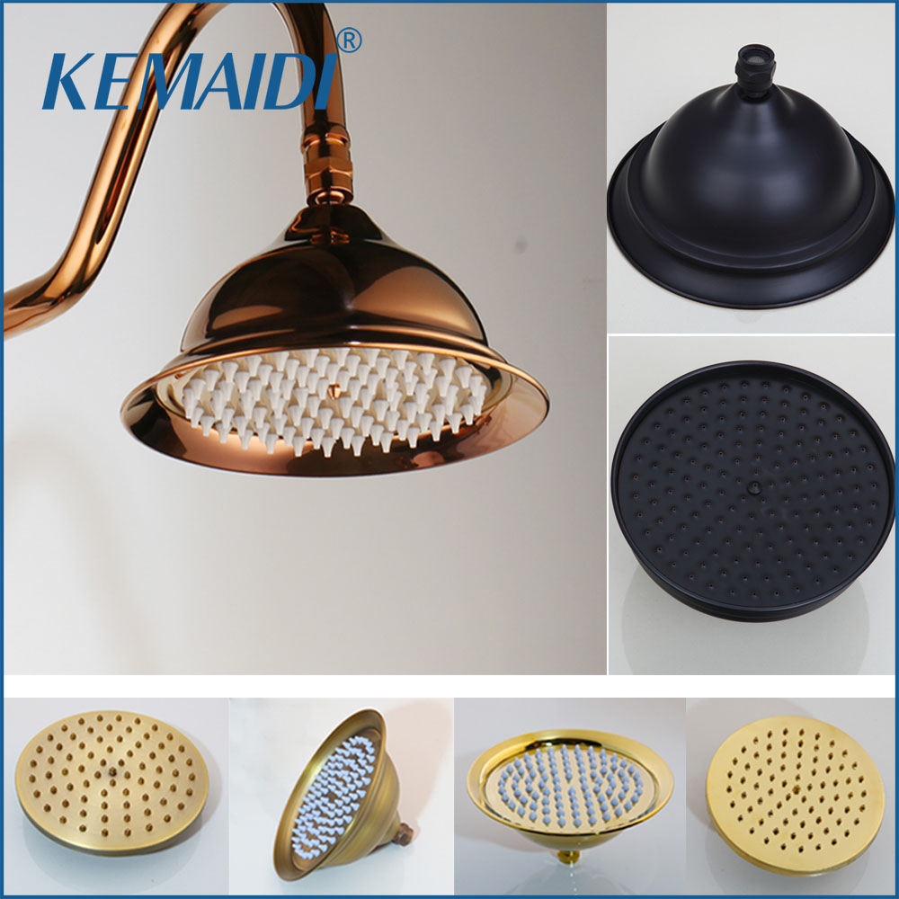 KEMAIDI Brass Rainfall Shower Head Round Shape 8 -inch Rain Bathroom Showerhead Hand Shower Bathroom Shower Head Without Arm