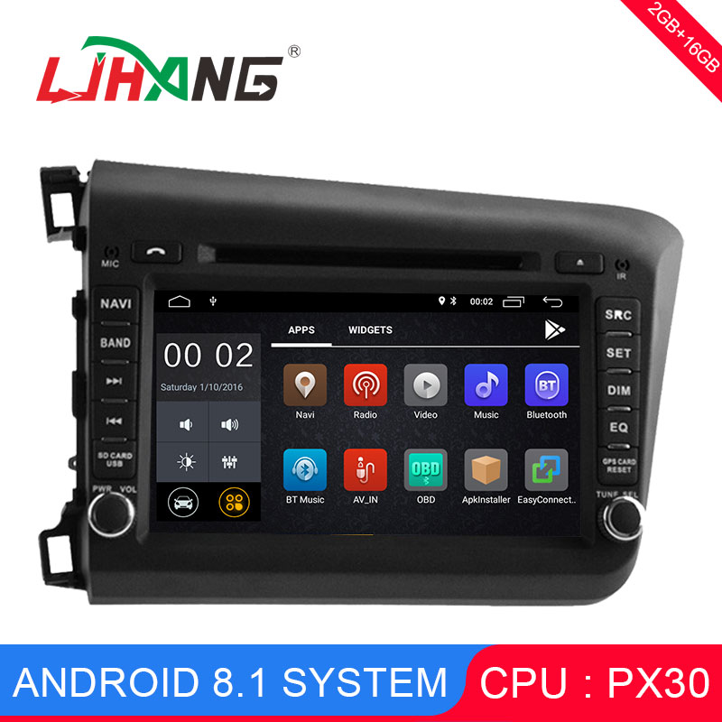 LJHANG 8 inch Android 8.1 Car DVD Player 2 Din For Honda Civic 2012-2015 2016 GPS Navigation Radio WIFI Multimedia Stereo Audio