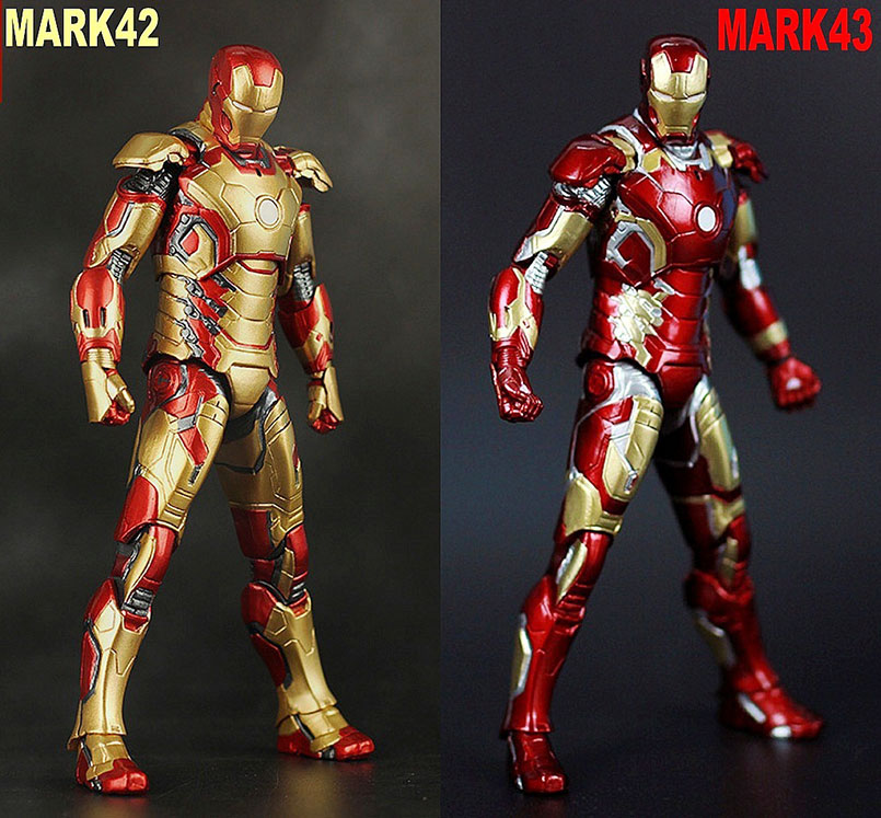 17-18cm Avengers Endgame Iron Man MK42/MK43 PVC Model Action Figure Toys Iron Man MK42/MK43 Collectbile Model Toys For Children