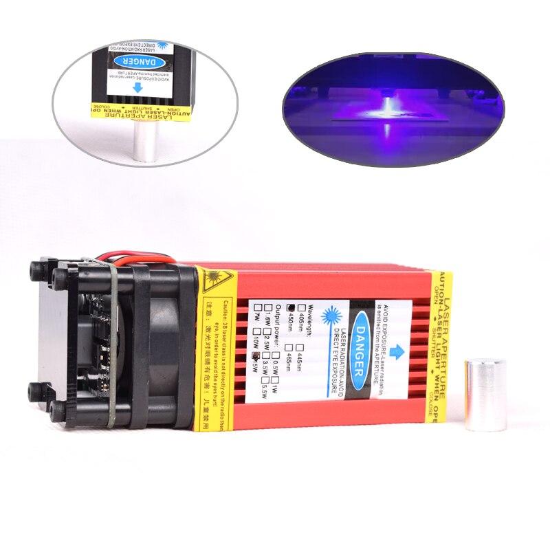 450nm 15000mW 12V High Power TTL Adjustable Focus Blue Laser Module DIY Laser Engraver Accessories 15W 5.5W 2.5W 3.5 Laser Head