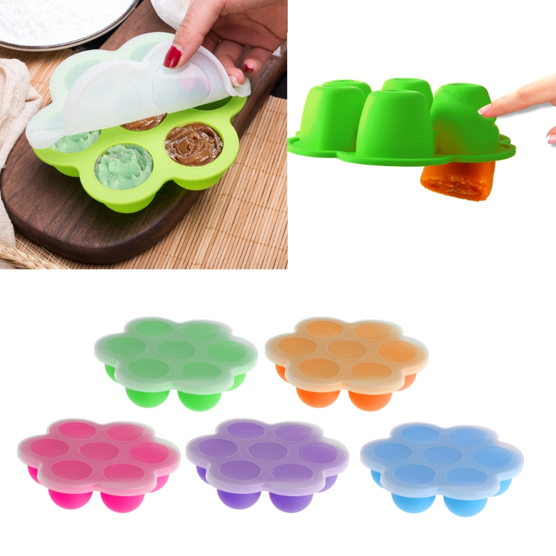 цена на Baby Food Dishes Baby Food Container Infant Fruit Breast Milk Storage Box Freezer Tray Crisper Infants Handmade Feeding Food Box