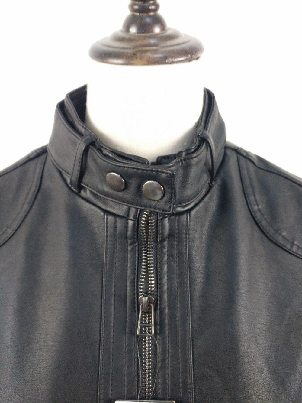 Leather jacket europe - New Women Jacket Europe Fashion Leather Jacket Pimkie Wash Single Pu Leather Motorcycle Temale Women Leather Jacke In Basic Jackets From Women S Clothing