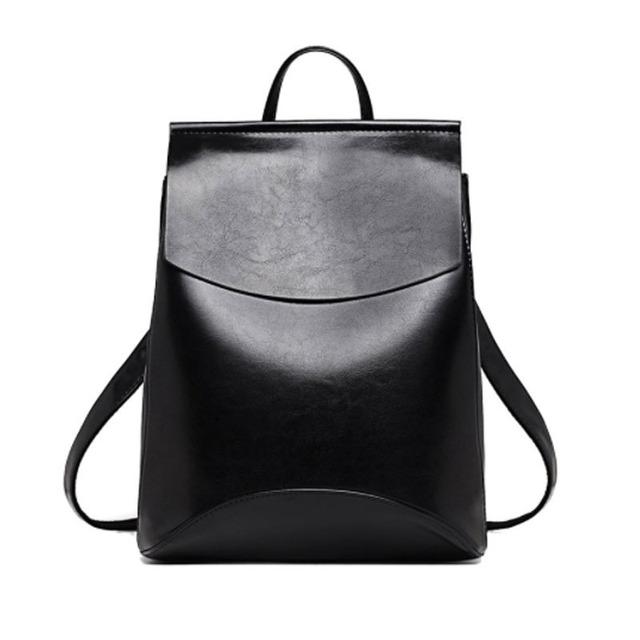 Women's Minimalist Leather Backpack