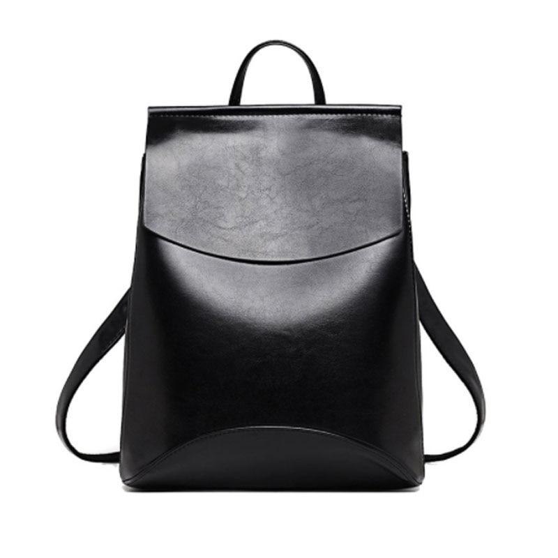ALCEVR moda mochila mujer mochilas de cuero de juventud de alta calidad para adolescentes mochila
