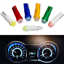 20 個の車のインテリア T5 led 1 smd dc 12 v ライトセラミックダッシュボードゲージ機器セラミック車の自動車サイドウェッジライトランプ電球