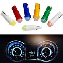 20 sztuk wnętrza samochodu T5 Led 1 SMD DC 12V światło podświetlenie deski rozdzielczej przyrząd pomiarowy ceramiczny samochód Auto boczna lampa światła klinowego żarówka