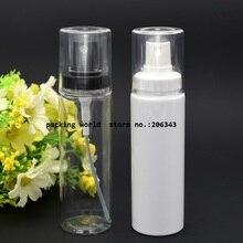 100 мл Белый пластиковый флакон с белым насос для мелкодисперсного разбрызгивателя Прозрачная крышка, Высококачественная бутылка распылителя пластиковая бутылка