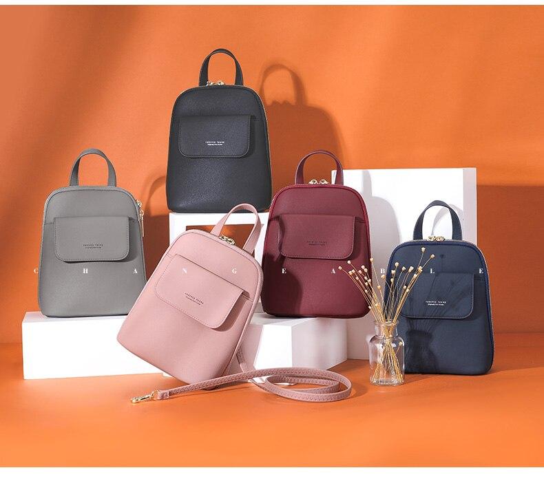 HTB1TT9oaffsK1RjSszgq6yXzpXa4 WEICHEN Multi-Function Women Backpack Fashion Small Backpack Female Leather Ladies Shoulder Bag Girl Satchel Mini Mochila Purse