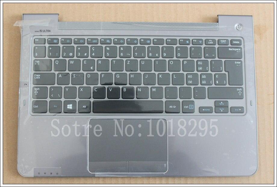 For Samsung NP530U3C NP530U3B NP535U3C 530U3B 530U3C NP540U3 NP532U3C NP532U3A Sweden SW   keyboard Silver palmrest cover laptop keyboard for acer silver without frame sweden sw v 121646ck2 sd aezqsd00110