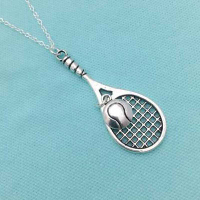 Tennis Racket &Ball Necklaces Pendant Charms Collana Tennis Chain Choker Statement Necklaces For Women Jewelry Friendship Gift