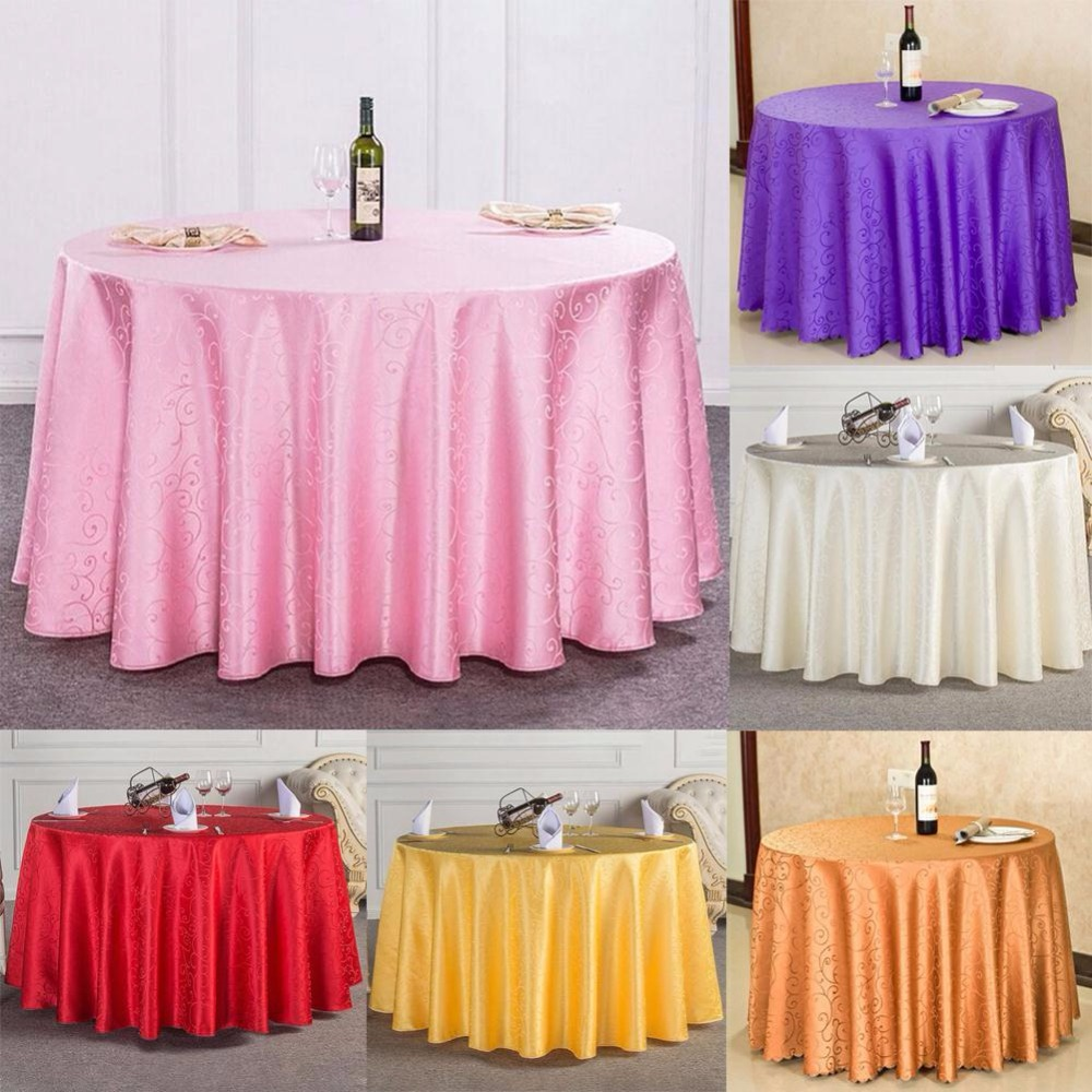 Tablecloth 1.6*1.6M Tablecloth Round Cover Table Cloth Wedding Banquet  Festival Party Supply Manteles Tovaglia Tavolo Nappe