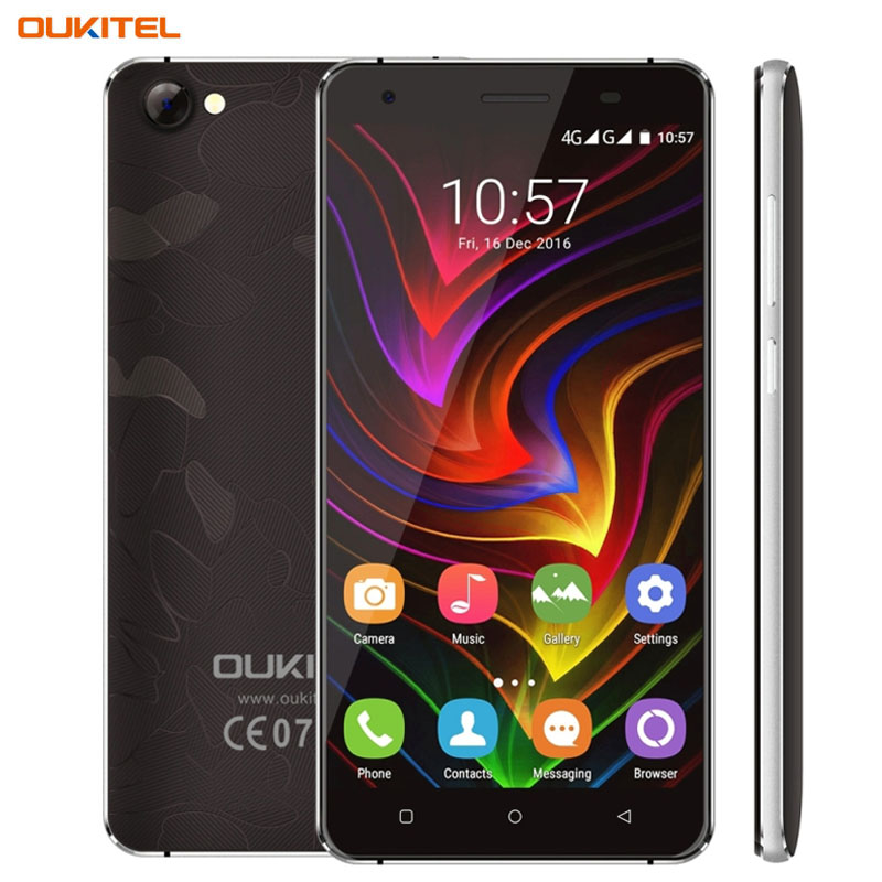 4G OUKITEL C5 Pro 2GB 16GB 5 0 inch Android 6 0 MTK6737 Quad Core up