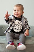 Hello I Am New Here Fashion Newborn Baby Boys Girls Clothing Letter boys rompers jumpsuit Roupa Infantil Onesie