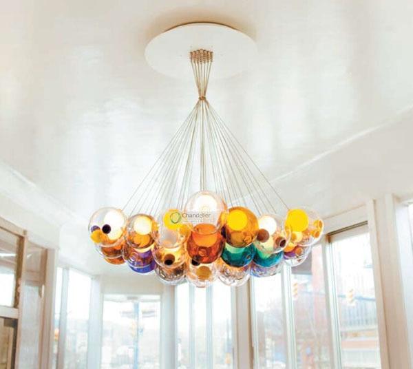 28 halogen bulbs fit ac110 240v 28 heads random chandelier clear 28 halogen bulbs fit ac110 240v 28 heads random chandelier clear glass sphere ball bocci mozeypictures Choice Image