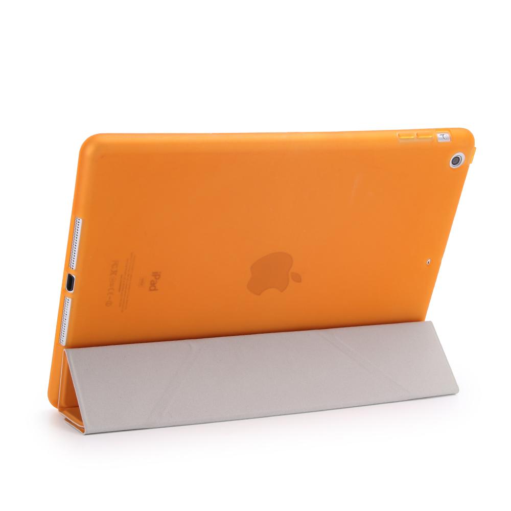 смарт услуга/сна чехол для нового iPad с 9.7 2017 a1822 мода ультратонких + мягкий тпу прозрачный задняя крышка подставка + подарок один стилус