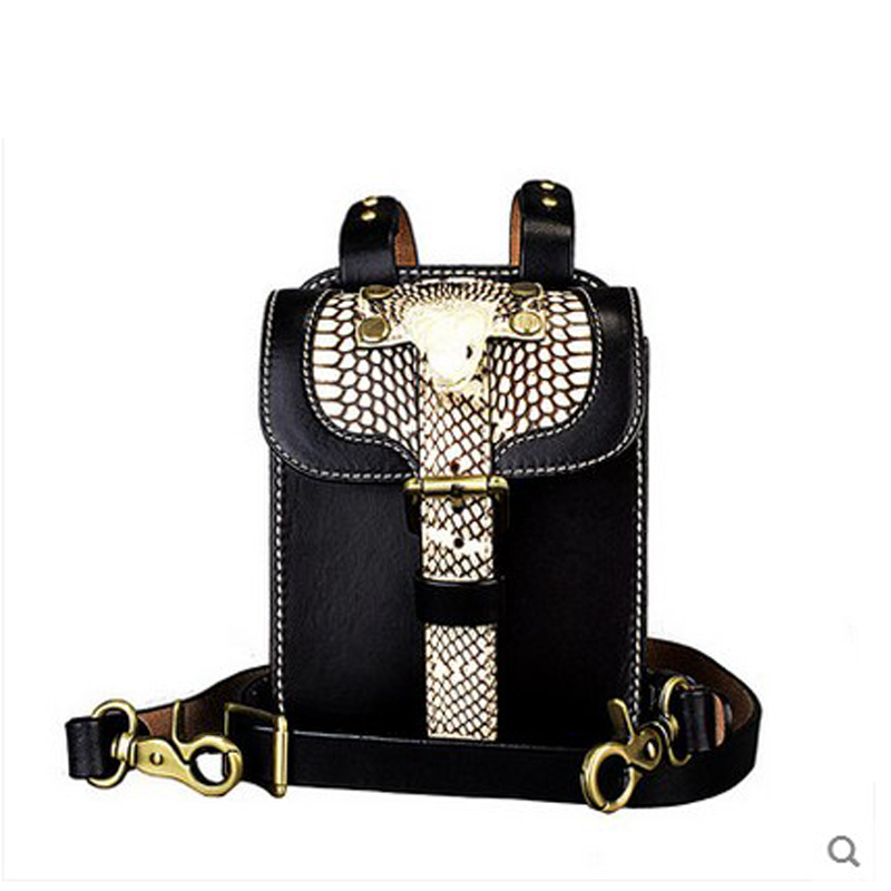 Jialante Real Snakeskin Men's Leather Bags For Men's Bags