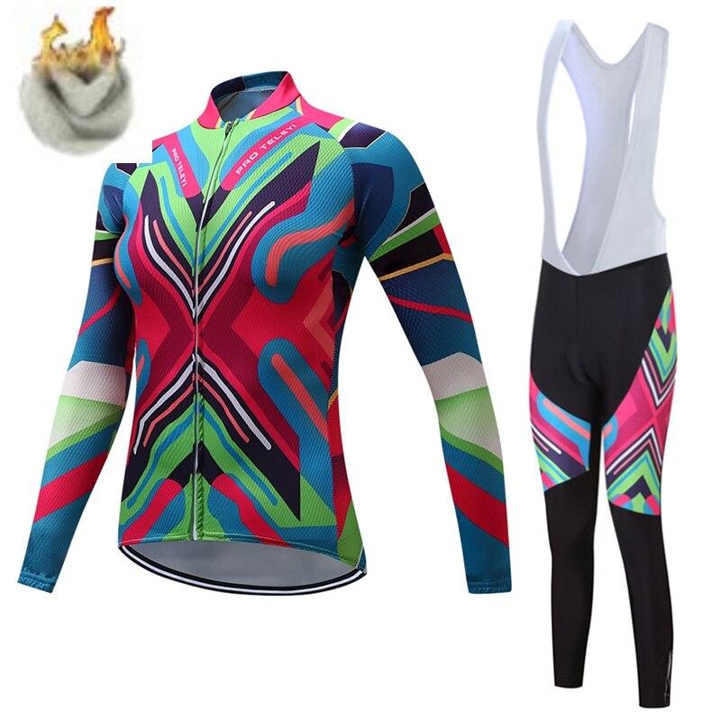 TELEYI Felicia Winter Frauen Radtrikot/Super Warm Mountian Fahrrad Sportswear Thermische Fleece Bike Radfahren Kleidung