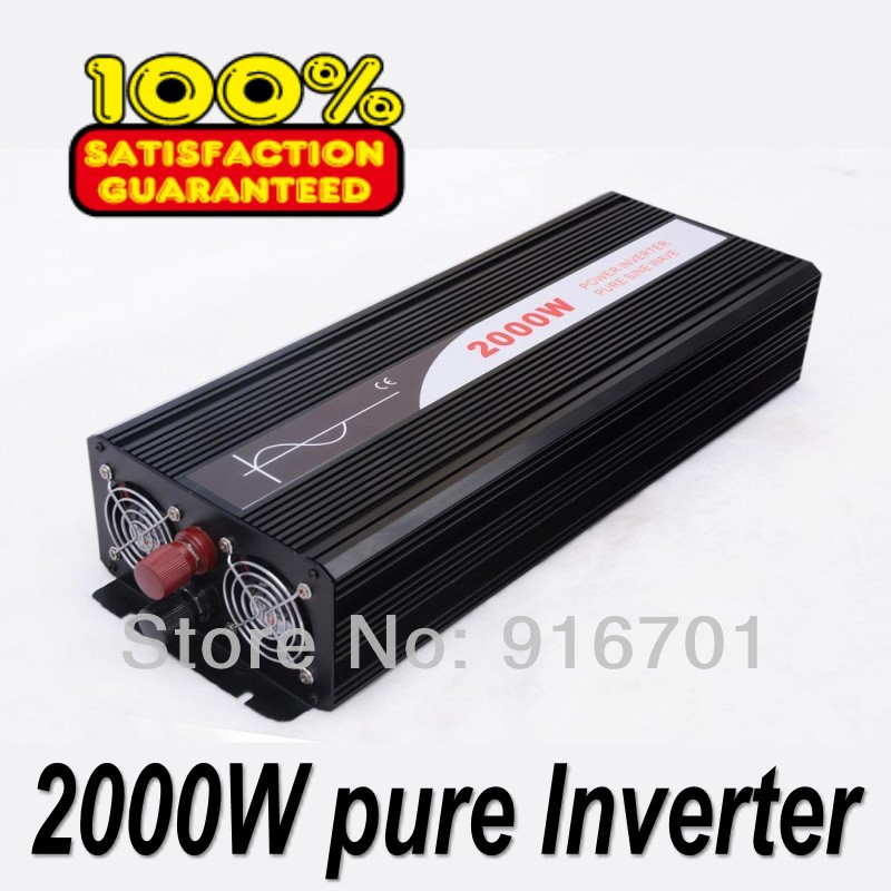 цена на Off Grid 2000w DC12V/24V, AC110V/220V, Pure Sine Wave Solar Inverter or Wind Inverter, Surge 4000w, 50Hz/60Hz , Single Phase
