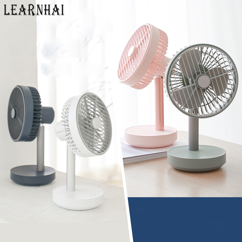 USB Dual Battery Rechargeable Mini Handheld Student Outdoor with Lanyard Portable Desktop Fan BAIYI Electric Fan
