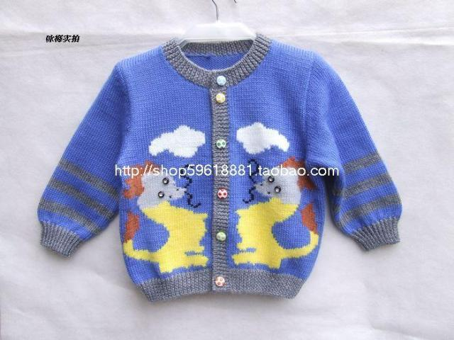 b616e5e73 hand knitted cardigan sweaters For Boy baby clothing Wool Coat ...