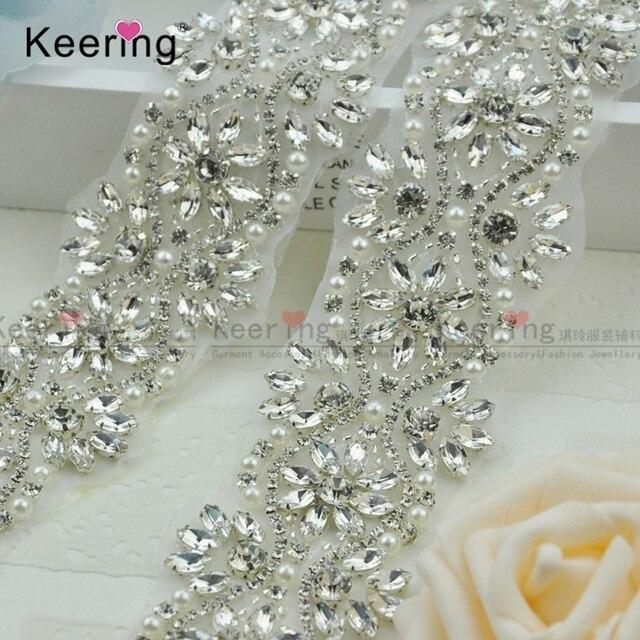 Luxury Style Shiny Crystal Rhinestone Appliques Trims WRA-575