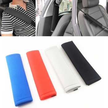 2 PC Car Seat Belt Shoulder Pad Cover Comfort Harness Pads for Hyundai ix35 iX45 iX25 i20 i30 Sonata,Verna,Solaris,Elantra, image