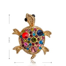 Gold Tortoise Brooch