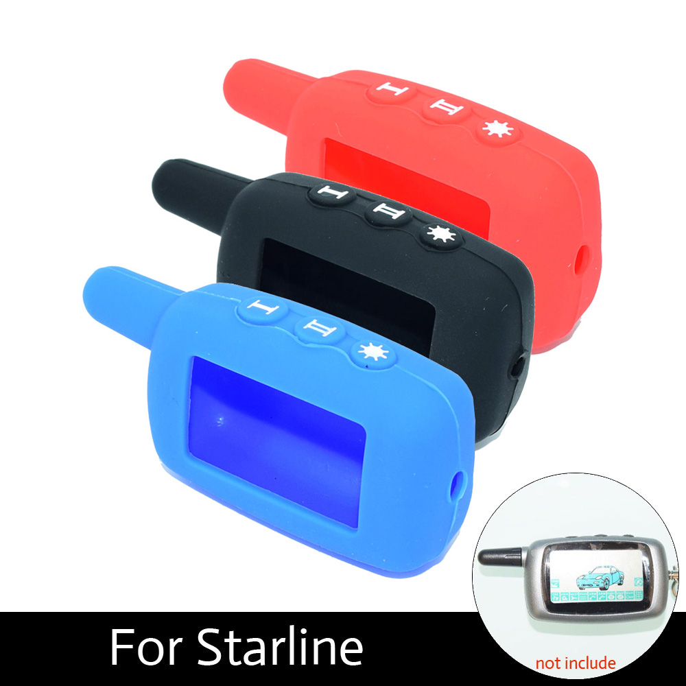 ATOBABI 3 Colour A9 24V Case Silicone for Starline A9 / 24V Alarm Car Two Way Russian Fob Keychain کنترل از راه دور فرستنده LCD