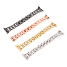 Diamond Luxury Stainless Steel Strap for Apple Watch Band 38mm 40mm 42mm 44mm for Iwatch Series 4 3 2 1 Wristband Bracelet Belt