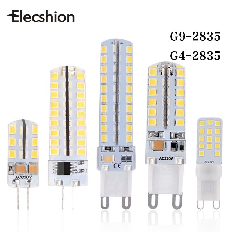 Elecshion G9 G4 Led Corn light lamp bulb AC220V LEDS night light SMD2835 lamps Ceiling Chandeliers bulbs Fixtures corridor Stair 2pcs truck light 4 leds lamp