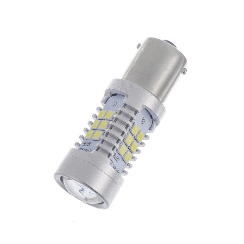 1Pcs White Yellow 1156 BA15S 7506 S25 P21W LED Car Backup Reverse Turn Signal Brake Stop DRL Light Bulb